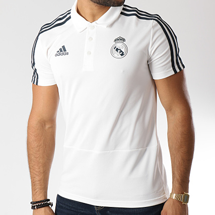1731a217 adidas - Polo Manches Courtes De Sport Real Madrid CW8669 Blanc Noir -  LaBoutiqueOfficielle.com