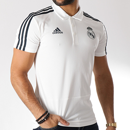 88e52898 Home > adidas > Real Madrid > Polos > Polos Manches Courtes > adidas - Polo  Manches Courtes De Sport Real Madrid CW8669 Blanc Noir