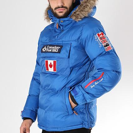 Fourrure Bleu Roi Peak Canadian Boreak Brodés Doudoune Patchs wSHvxEq1R