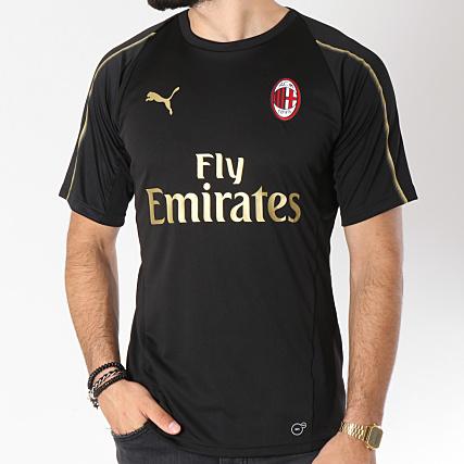 Ac Noir Sport Doré Puma Shirt Tee De Milan Training Jersey 754459 7bf6gIYyvm