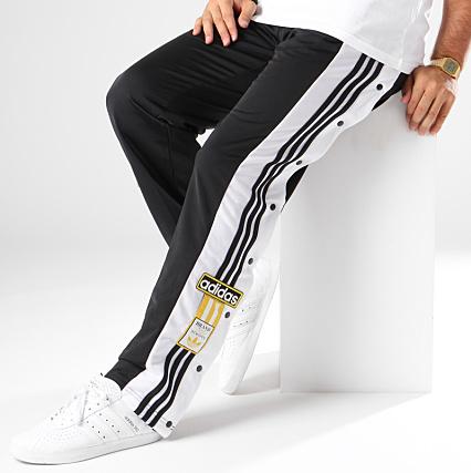 survetement jaune homme bande blanche adidas