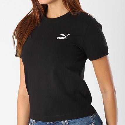cbc0b2d1ad Puma - Tee Shirt Femme Classic Tight T7 576509 Noir -  LaBoutiqueOfficielle.com