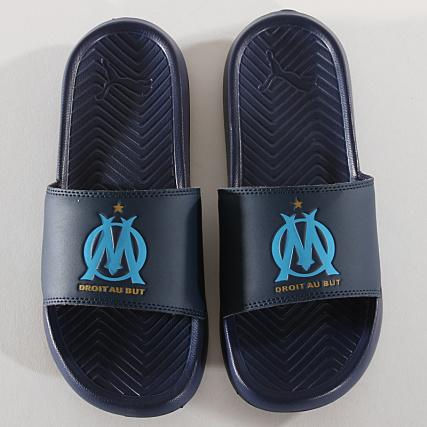 info for 57595 de6d3 Home   Puma   OM   Baskets - Chaussures   Claquettes - Sandales   Puma - Claquettes  Popcat OM 367799 Peacoat Bleu Azur
