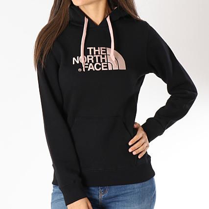 193d4cd890 Home > The North Face > Sweats - Pulls > Sweats Capuche > The North Face -  Sweat Capuche Femme Drew Peak A8MU Noir Rose