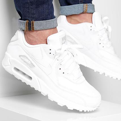 best loved f899b e5462 Nike - Basket Air Max 90 Leather 302519 113 True White -  LaBoutiqueOfficielle.com