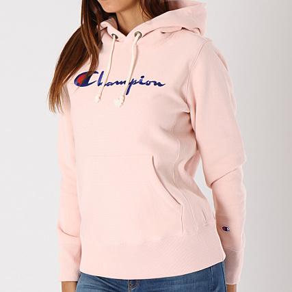 nouveaux produits pour 60% pas cher beauté Champion - Sweat Capuche Femme 110975 Rose ...