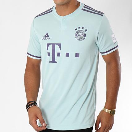 58607e934479 adidas - Tee Shirt De Sport Jersey FC Bayern Munchen CF5410 Bleu Turquoise  Lila - LaBoutiqueOfficielle.com