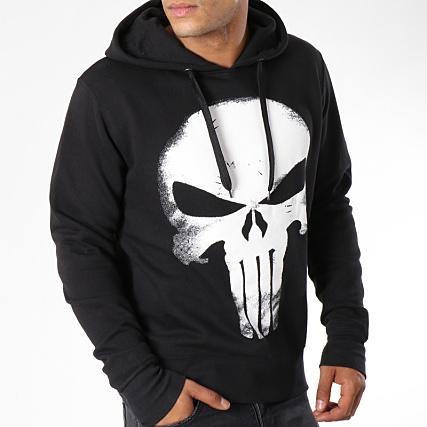 b593f0459ebad Punisher - Sweat Capuche Grunge Logo Noir - LaBoutiqueOfficielle.com