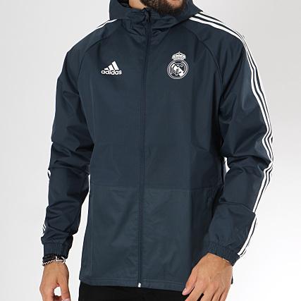adidas Coupe Vent Real De Madrid CW8642 Bleu Marine