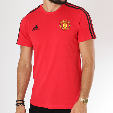 Shirt Adidas Manchester Fc Rouge 3 Stripes D95966 United Tee v0wm8nN