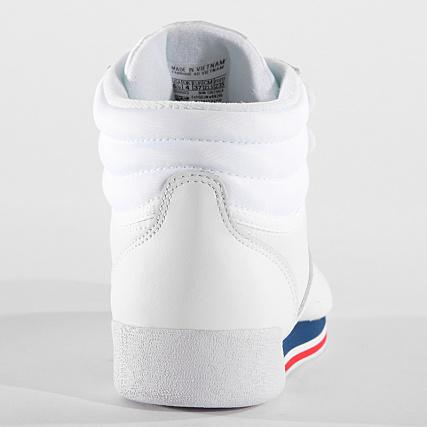 36e7d7cf9604 Home   Reebok   Baskets - Chaussures   Baskets Montantes   Reebok - Baskets  Femme Freestyle Hi CN2964 Retro White Bunker Blue Primal Red