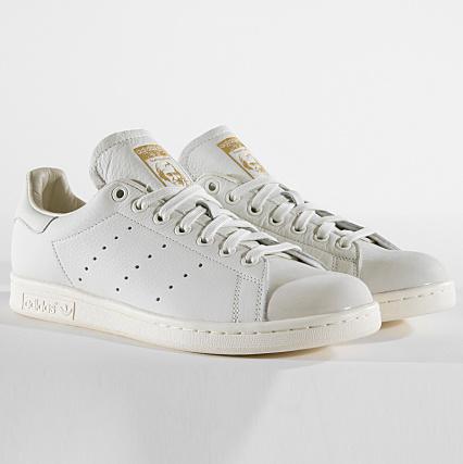 low priced 570e2 87a00 adidas - Baskets Stan Smith Premium B37900 White Tint Gold Metallic -  LaBoutiqueOfficielle.com