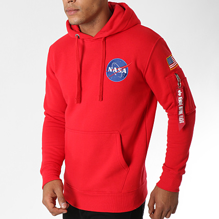 Alpha Industries Sweat Crewneck Avec Poche Bomber Nasa