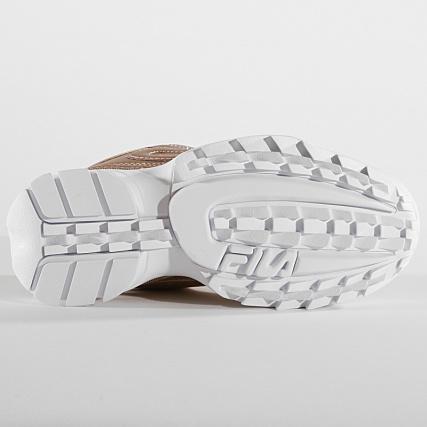 Baskets Fila Disruptor MM Low Gold Doré Achat Vente
