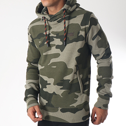 Superdry Sweat Capuche Trophy Camo Splatt M20110AR Vert