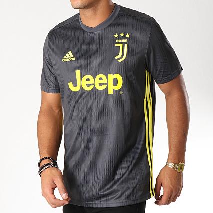 Adidas Dp0455 Stripes 3 De Shirt Gris Sport Tee Juventus r4qZrw
