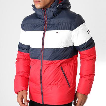 vente chaude en ligne 9a73f e37d1 Tommy Hilfiger Jeans - Doudoune Rugby Stripe 5024 Rouge Bleu ...