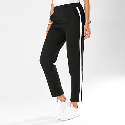 check-out b5cf1 dbb37 Vero Moda - Pantalon Femme Avec Bandes Maya Noir ...