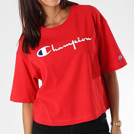 Champion Tee Shirt Femme 110993 Rouge