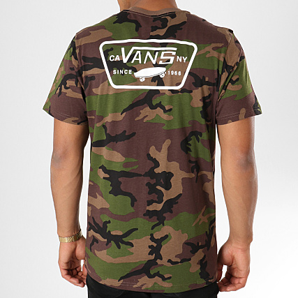 Vans Tee Shirt Full Patch Back A3H5KC Vert Kaki Camouflage