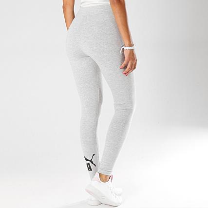 Puma Legging Femme Essentials 851818 Gris Chiné Noir