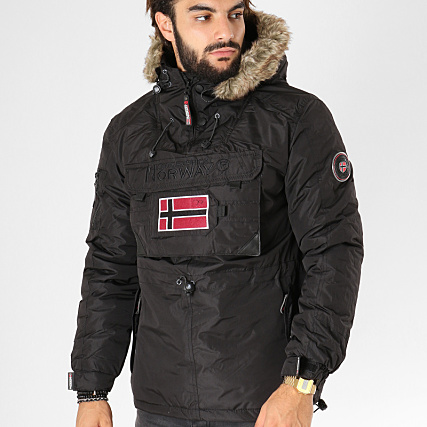 Poche Fourrure Veste Norway Outdoor Beco Bomber Noir Geographical qwpO7tUn