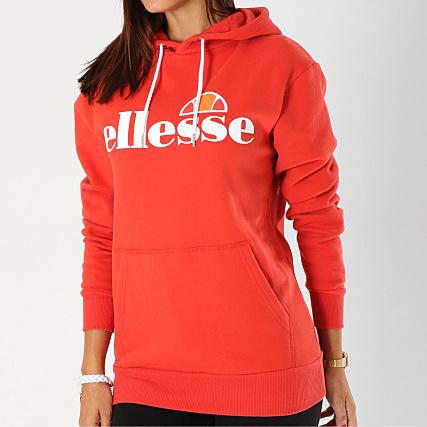 fournir un grand choix de braderie texture nette Ellesse - Sweat Capuche Femme Torices Rouge ...
