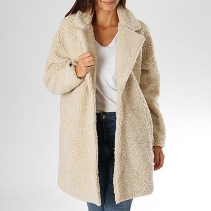 designer fashion sale uk new arrival Only - Manteau Fourrure Femme Aurelia Ecru ...
