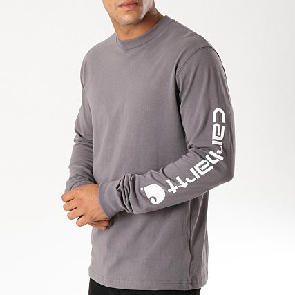 détaillant en ligne 7c964 89f4d Carhartt - Tee Shirt Manches Longues EK231 Gris Anthracite ...