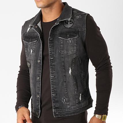 qualité incroyable gamme exceptionnelle de styles aperçu de Classic Series - Veste Jean Sans Manches 63289 Noir ...