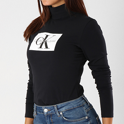 465c055ce0e Calvin Klein - Tee Shirt Manches Longues Femme Monogram Box 8607 Noir -  LaBoutiqueOfficielle.com
