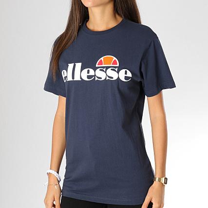 Ellesse Bleu Femme Tee Albany Shirt Marine nwv80mNyO