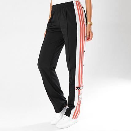 f937f78352493 adidas - Pantalon Jogging Avec Bandes Femme Original DH4677 Noir Blanc Rose  - LaBoutiqueOfficielle.com