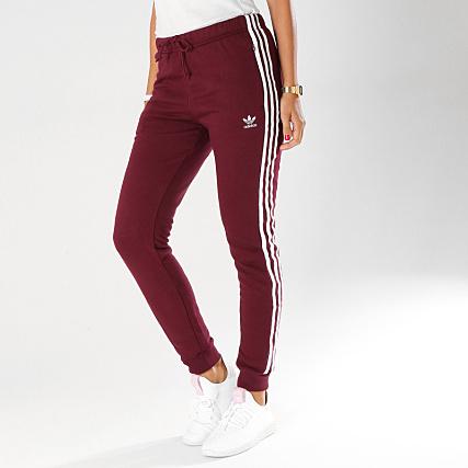 31f920df2b0 adidas - Pantalon Jogging Femme Cuffed DH3147 Bordeaux -  LaBoutiqueOfficielle.com