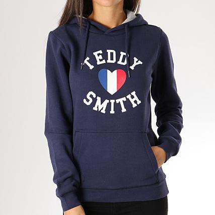 34cffba3fda7 Teddy Smith - Sweat Capuche Femme Sofrench Bleu Marine -  LaBoutiqueOfficielle.com