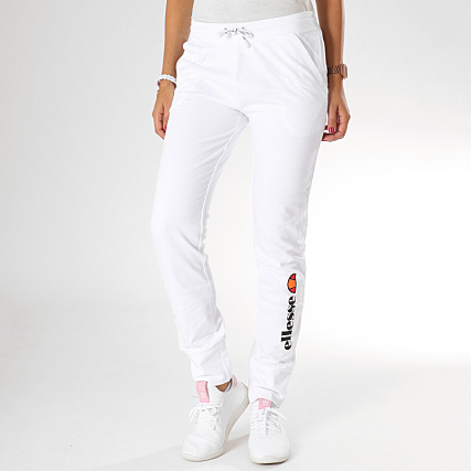 Jogging Fit Pantalon Ellesse Femme Blanc RjcL354qA