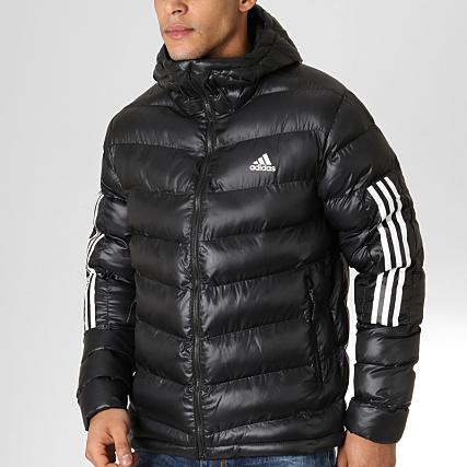 e7553df9e47 Home   adidas   Blousons - Vestes   Doudounes   adidas - Doudoune Itavic 3  Stripes BQ6800 Noir Blanc