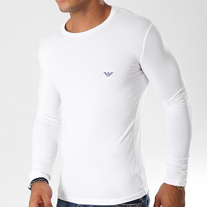 746ab7d56712a Emporio Armani - Tee Shirt Manches Longues 111023-8A725 Blanc -  LaBoutiqueOfficielle.com