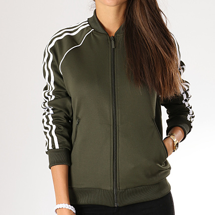 cheap for discount half off arrives adidas - Veste Zippée Femme SST Track Top DH3166 Vert Kaki ...