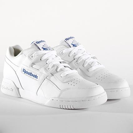 26104dec4df8f Home   Reebok   Baskets - Chaussures   Baskets Basses   Reebok - Baskets  Workout Plus 2759 White Royal