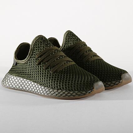 291c91e16 adidas - Baskets Deerupt Runner B41771 Base Green Orange -  LaBoutiqueOfficielle.com