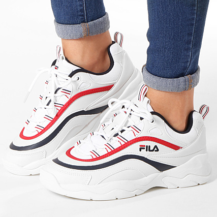 Fila Baskets Femme Ray Low 1010562 150 White Navy Red