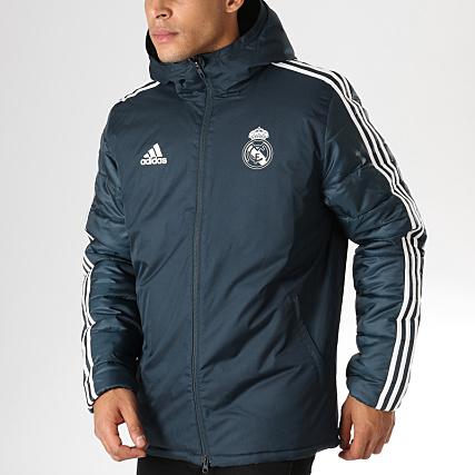 Adidas Cw8662 Outdoor De Veste Madrid Zippée Bleu Capuche Real rFZrvq0