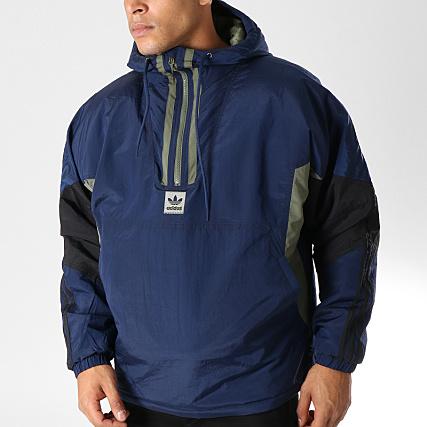 Capuche Dh6647 Adidas Noir Veste Puffy Bleu Marine Vert Anorak VUpjLqzGSM