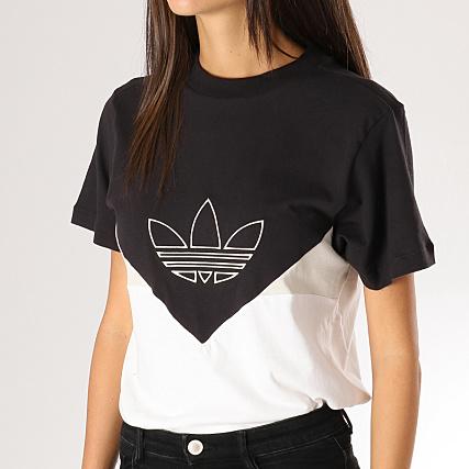 design de qualité d8fb9 87e92 adidas - Tee Shirt Femme CLRDO DH3021 Blanc Noir ...