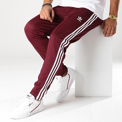 where can i buy new lifestyle popular brand adidas - Pantalon Jogging Beckenbauer DH5825 Bordeaux Blanc ...