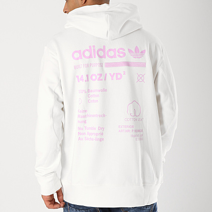 another chance best sale san francisco adidas - Sweat Capuche Kaval OTH DM1489 Blanc Rose ...