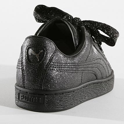 Puma Baskets Femme Heart Holiday Glamour 367630 02 Black