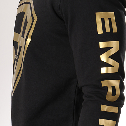 93 Empire Sweat Crewneck 93 Empire Sleeves Noir Doré