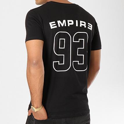93 Empire Tee Shirt 93 Empire Dossard Noir Blanc